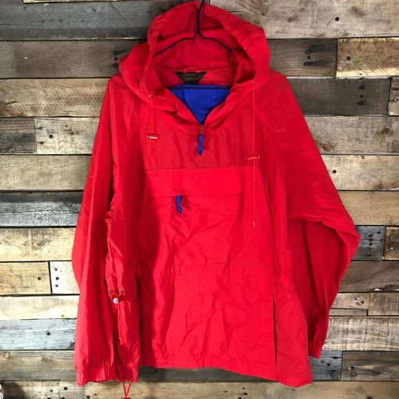 8d9453b0e7ab Eddie Bauer Other - Eddie Bauer red pullover rain jacket